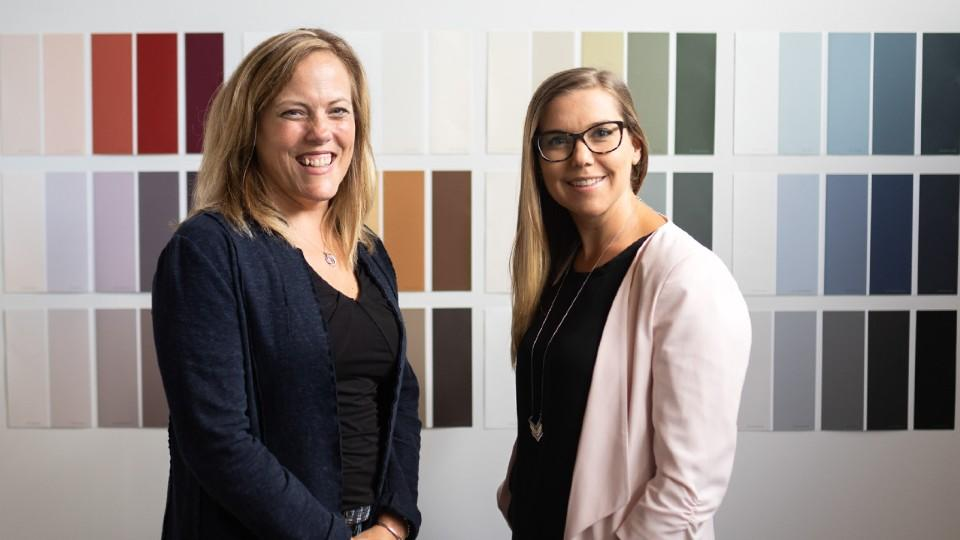 Jill Torrance and Emily Kinread of Digby Paints.