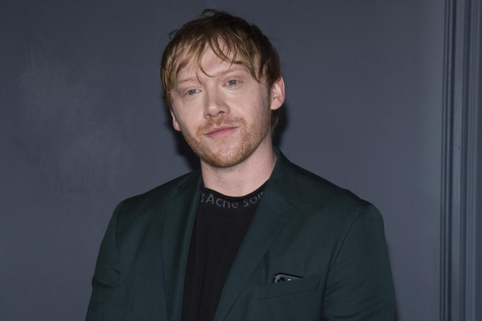 "Rupert Grint attends the Apple TV Plus world premiere of ""Servant"" at BAM Howard Gilman Opera House on Tuesday, Nov. 19, 2019, in New York. (Photo by Charles Sykes/Invision/AP)"