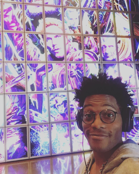 <p>After a long day of doing press I'm treating myself to some #guardiansofthegalaxy2 and #Logic's new album. I multitask my ass off. — @jermainefowler @superiordonuts @cbstv<br> (Photo: YahooTV via Instagram) </p>
