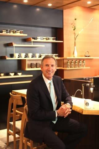 Howard Schultz, Starbucks chairman, president and ceo dedicating new Japan Support Center and Meguro ...