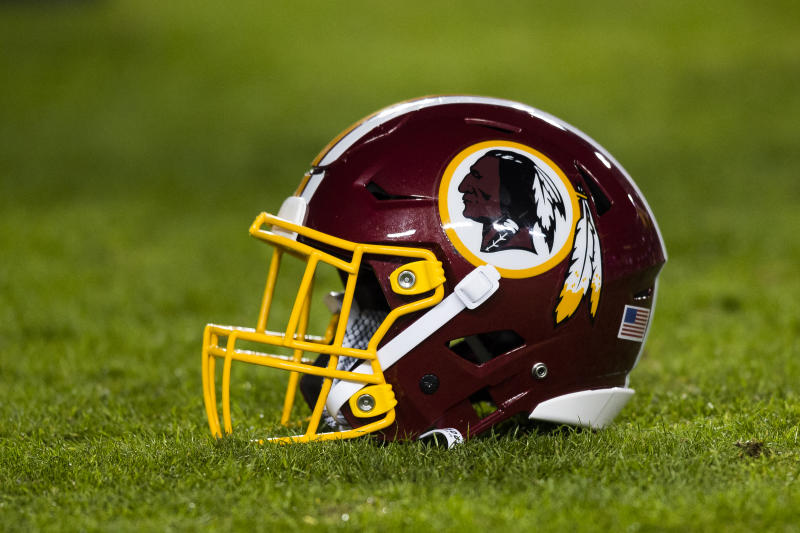 The Washington Redskins helmet with logo