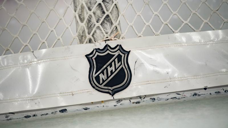 CHICAGO, IL - JANUARY 09: An NHL logo is seen prior to a game between the Nashville Predators and the Chicago Blackhawks on January 9, 2020, at the United Center in Chicago, IL. (Photo by Patrick Gorski/Icon Sportswire)