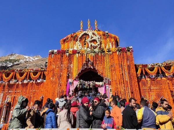 The portals of Badrinath Temple closed on Thursday (Photo/ANI)