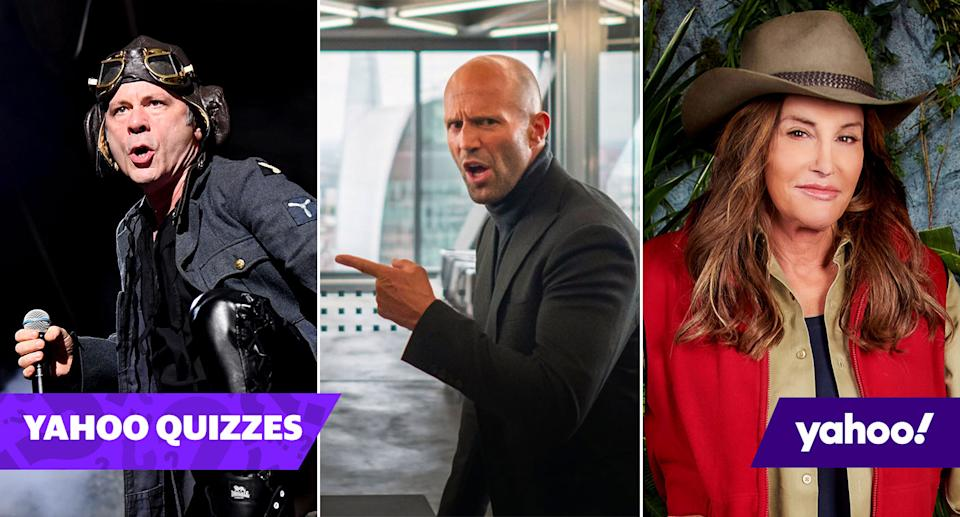 Did Bruce Dickinson, Jason Statham and Caitlyn Jenner compete for their countries? (Getty/Universal Pictures/ITV)