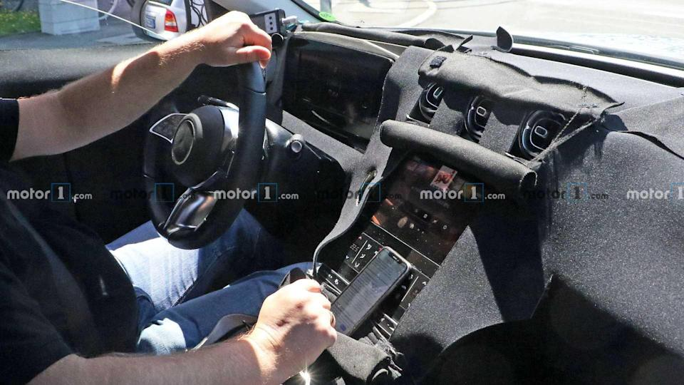 Mercedes C-Class Wagon Interior Spied