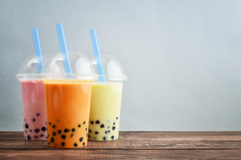 Various Bubble Tea in a plastic cups with drink straws. (PHOTO: Getty Images)