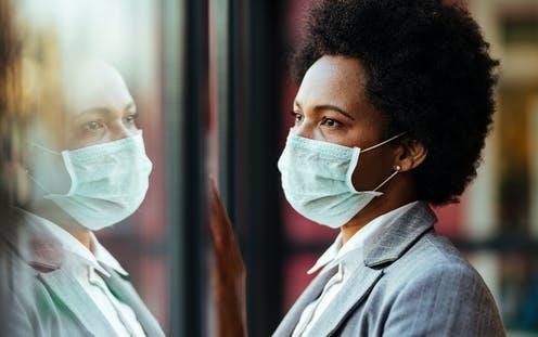 "<span class=""attribution""><a class=""link rapid-noclick-resp"" href=""https://www.shutterstock.com/image-photo/distraught-black-businesswoman-wearing-protective-mask-1679010373"" rel=""nofollow noopener"" target=""_blank"" data-ylk=""slk:Drazen Zigic/Shutterstock"">Drazen Zigic/Shutterstock</a></span>"