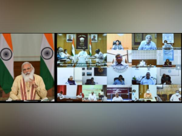 PM Modi interacting with directors of Centrally Funded Technical Institutions on Thursday via video conferencing.