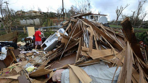 PHOTO: In this Sept. 25, 2017, file photo, Jose Garcia Vicente walks through rubble of his destroyed home, in the aftermath of Hurricane Maria, in Aibonito, Puerto Rico. (Gerald Herbert/AP, FILE)