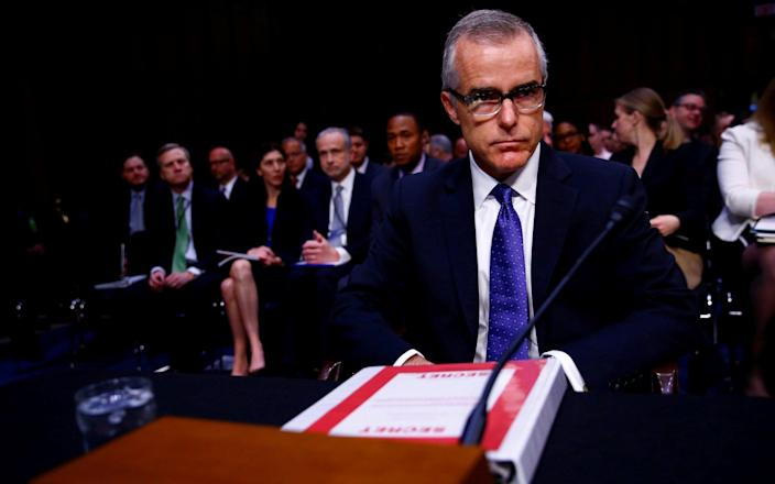 Andrew McCabe's memos are similar to the notes compiled by dismissed FBI chief James Comey - REUTERS