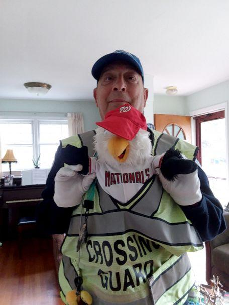 PHOTO: Jeff Covel has been working as a crossing guard in Arlington, Virginia, for six years, and this week his community surprised him with two World Series tickets. (Jeff Covel)