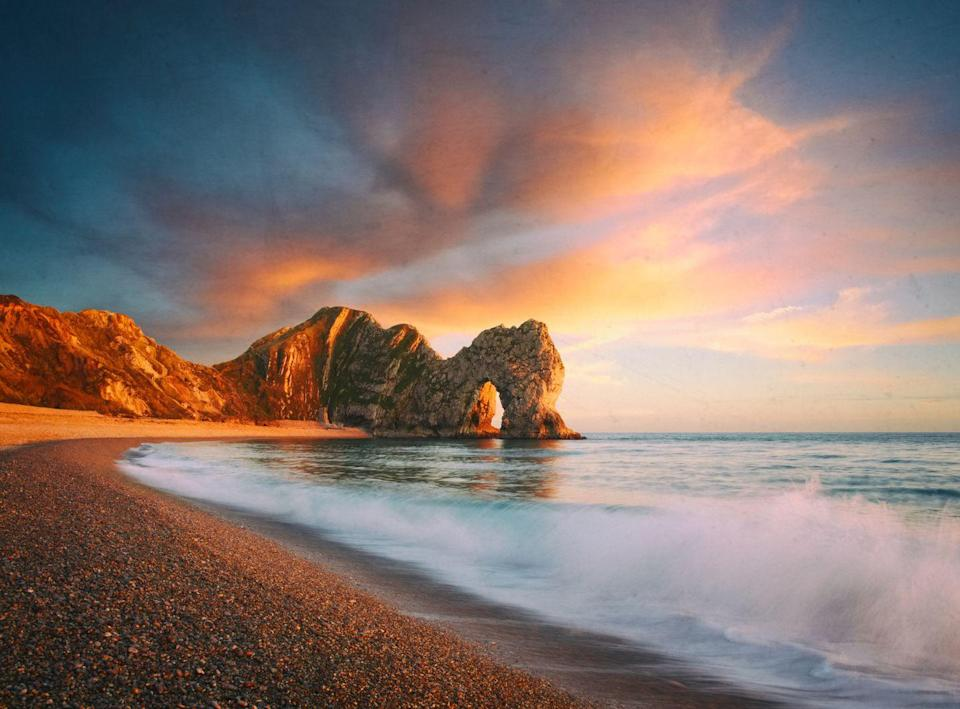 <p>Set upon the Jurassic Coast between Swanage and Weymouth, this natural limestone arch is the perfect secluded cove for your next Insta-worthy travel diary.</p>