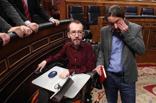 Pablo Echenique y Pablo Iglesias. (Photo by Eduardo Parra/Europa Press via Getty Images)