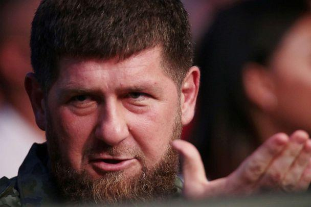 PHOTO: The head of the Chechen Republic, Ramzan Kadyrov, gestures while in attendance at UFC 242 in Abu Dhabi, United Arab Emirates, on Sept. 7, 2019. (Christopher Pike/Reuters)