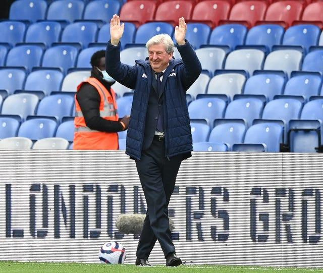Roy Hodgson waves to the fans