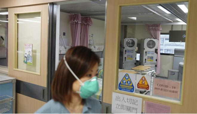 With capacity stretched in public hospitals, some Covid-19 patients have been moved down to a second-tier isolation ward similar to this one in Chai Wan. Photo: Sam Tsang