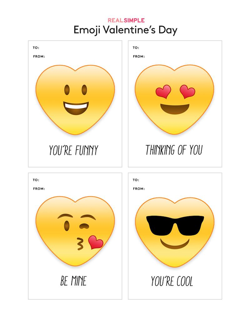 photograph relating to Free Printable Emoji Faces called Enjoyable (and Cost-free) Printable Valentines Working day Playing cards towards Down load
