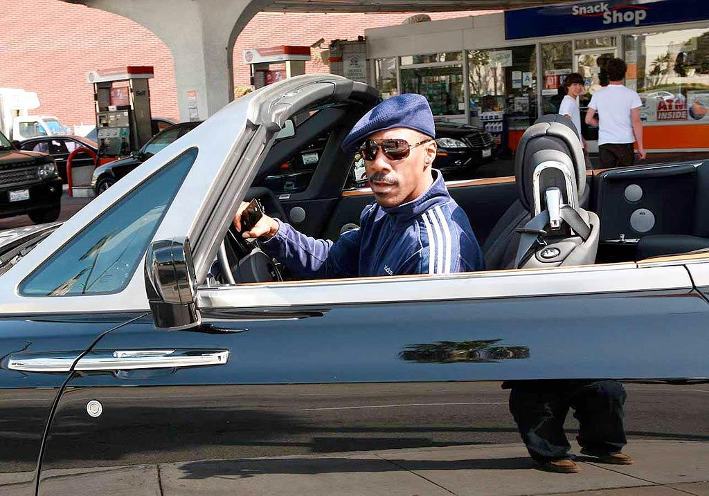 "Eddie Murphy treated himself to a lil' something for his 47th birthday: a $400,000 Rolls-Royce Phantom Drophead Coupe. Wouldn't that dough be better spent on his seven children, including the daughter he fathered with Scary Spice? Merino/<a href=""http://www.x17online.com"" target=""new"">X17 Online</a> - April 15, 2008"