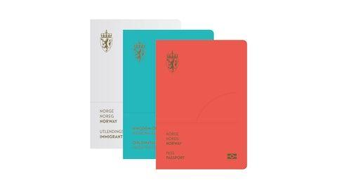 Norway's sleek new passport is offered in three colours - Credit: Neue Design Studio