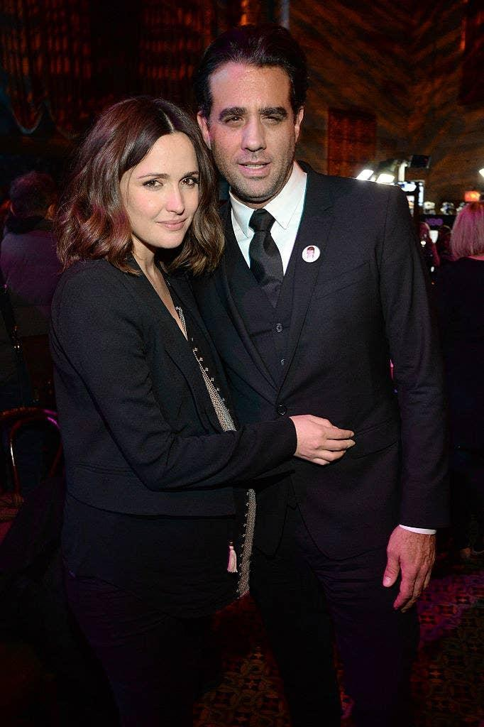 """Rose Byrne (L) and Bobby Cannavale attends the after party of the New York premiere of """"Vinyl"""""""