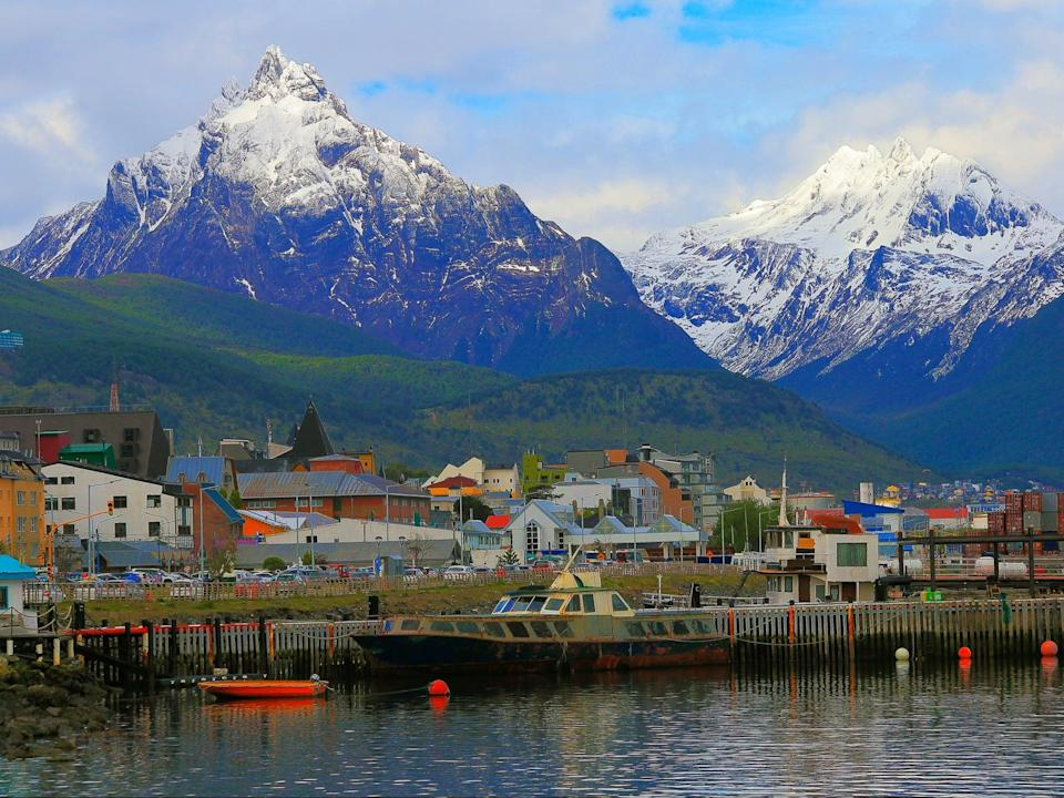 Ushuaia harbour in the Beagle Channel in Tierra Del Fuego, the region which has rejected plans for a large salmon farm, in Argentina (Getty)