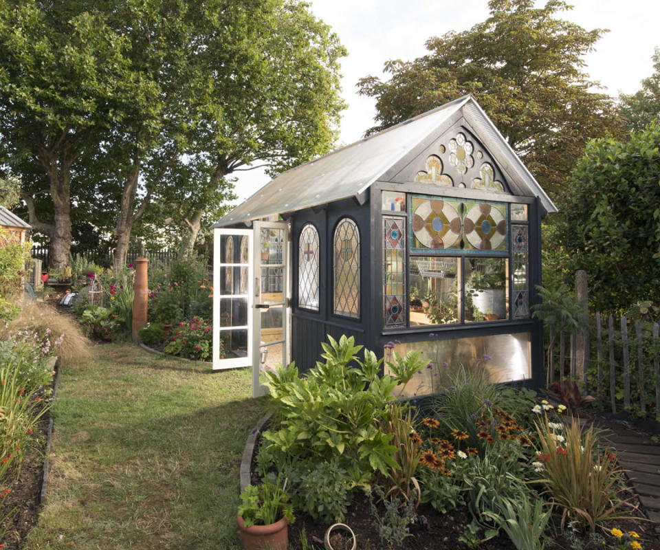 <p>CABIN & SUMMERHOUSES:<br>The Green House (Great Glass Propagator) – owned by Andy Ramsay and Kate Spencer the City of London (Picture: Shed of the Year) </p>