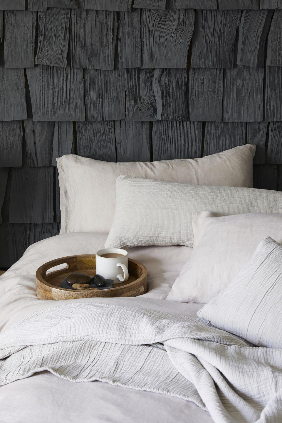 """<p>Now is the perfect time to refresh your <a href=""""https://www.housebeautiful.com/uk/decorate/bedroom/a35201382/bedroom-lighting-ideas/"""" rel=""""nofollow noopener"""" target=""""_blank"""" data-ylk=""""slk:bedroom"""" class=""""link rapid-noclick-resp"""">bedroom</a> with luxurious bedlinen, cosy cushions and versatile colour palettes. As part of Dunelm's 'The Edited Life' collection, you'll find all you need to upgrade your home. </p>"""