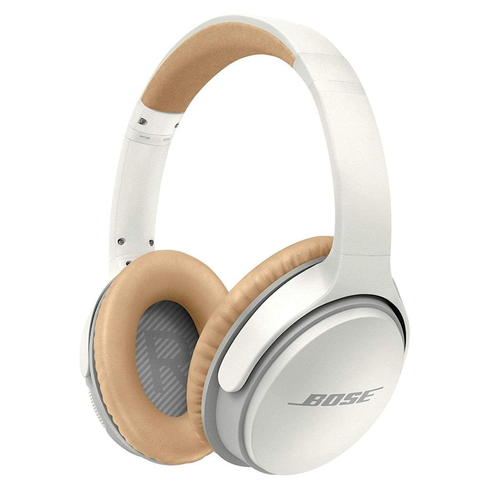 "<p><strong>Bose</strong></p><p>amazon.com</p><p><strong>$229.00</strong></p><p><a href=""https://www.amazon.com/dp/B0117RGD0K?tag=syn-yahoo-20&ascsubtag=%5Bartid%7C2089.g.1545%5Bsrc%7Cyahoo-us"" rel=""nofollow noopener"" target=""_blank"" data-ylk=""slk:Shop Now"" class=""link rapid-noclick-resp"">Shop Now</a></p><p>The SoundLink II wireless headphones feature an over-ear design, superb wireless range, and up to 15 hours of battery life on a single charge. NFC connectivity is also on board, allowing users to connect their favorite mobile device with a single tap.</p><p>Acoustically, the SoundLink II headphones sound just as one would expect from a Bose product. The product is available in black or white and each pair comes bundled with a convenient carrying case. </p><p><strong>More: </strong><a href=""https://www.bestproducts.com/tech/gadgets/g354/best-wireless-headphones-at-every-price/"" rel=""nofollow noopener"" target=""_blank"" data-ylk=""slk:The Best Wireless Headphones for Every Lifestyle"" class=""link rapid-noclick-resp"">The Best Wireless Headphones for Every Lifestyle</a></p>"
