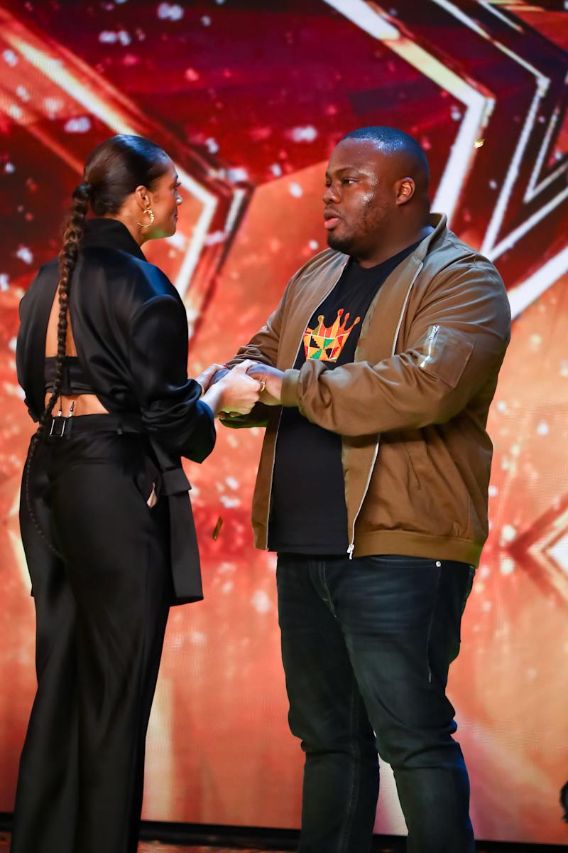 Nabil Abdulrashid was a hit with Alesha Dixon. (ITV)