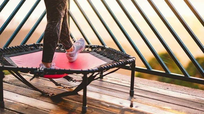 Don't attempt any high jumps or flips on a rebounder.