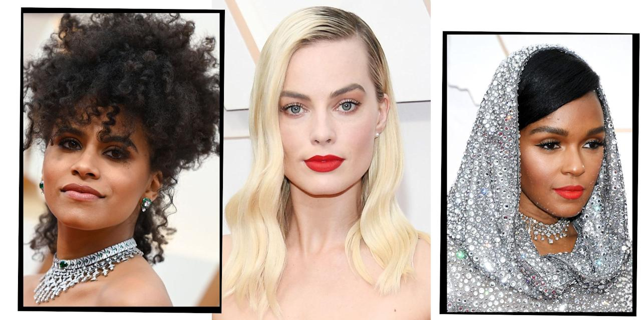 "<p>The Oscars 2020 have arrived! And with them they've brought a whole host of celebrities working next level hair and make-up looks. From <a href=""https://www.elle.com/uk/beauty/hair/g30528239/florence-pugh-hair-how-to/"" target=""_blank"">Florence Pugh's</a> show-stopping updo (her signature hair look), to Scarlett Johansson's old Hollywood glamour make-up, these are the best beauty looks from this year's iconic red carpet.</p>"