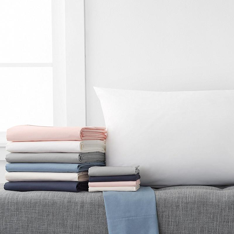 "Get it on <a href=""https://www.amazon.com/Pinzon-Organic-Cotton-Sheet-Set/dp/B071FMP44Y/ref=sr_1_3?ie=UTF8&qid=1518020922&sr=8-3&keywords=organic%2Bcotton%2Bbedding&th=1"" target=""_blank"">Amazon starting at $27.99</a>."