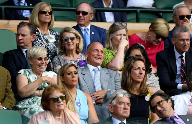 The internet can't stop laughing at the Woody Harrelson Wimbledon meme after TV announcers kept cutting to his antics.