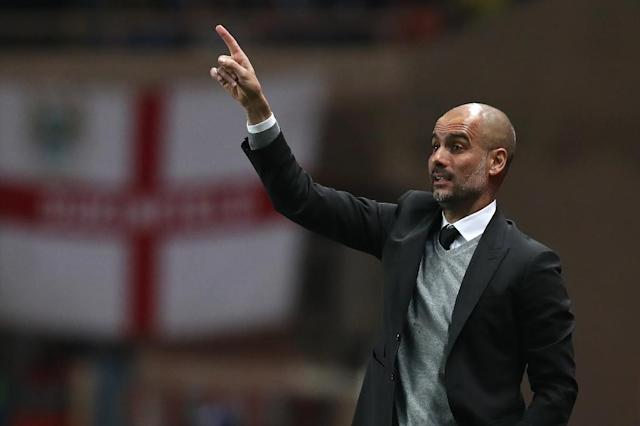 Manchester City's Spanish manager Pep Guardiola is pictured in Monaco on March 15, 2017 (AFP Photo/Valery HACHE)