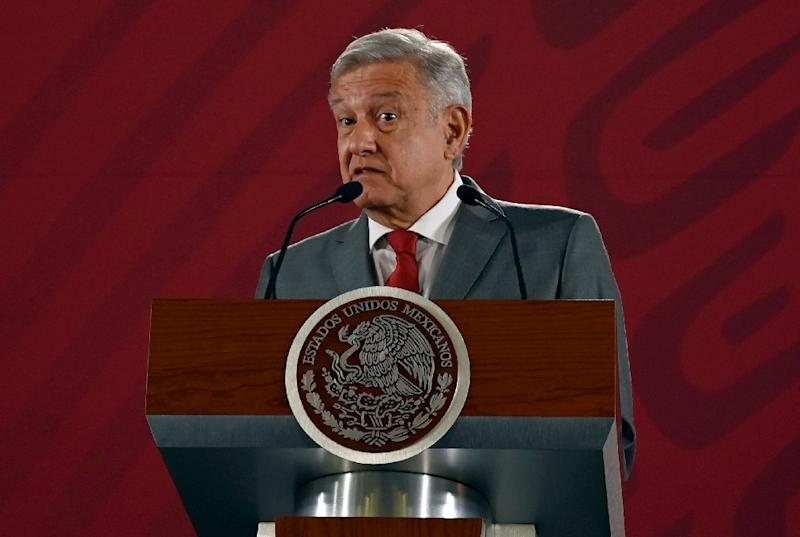Mexico's president Andres Manuel Lopez Obrador has said he thinks US officials are prepared to negotiate on President Donald Trump's threat to use tariffs as a tool to fight illegal migration across the border (AFP Photo/Alfredo ESTRELLA)