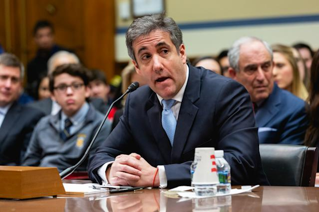 Michael Cohen, former lawyer for President Trump, testifies before the House Oversight Committee in February. (Photo: Cheriss May/NurPhoto via Getty Images)