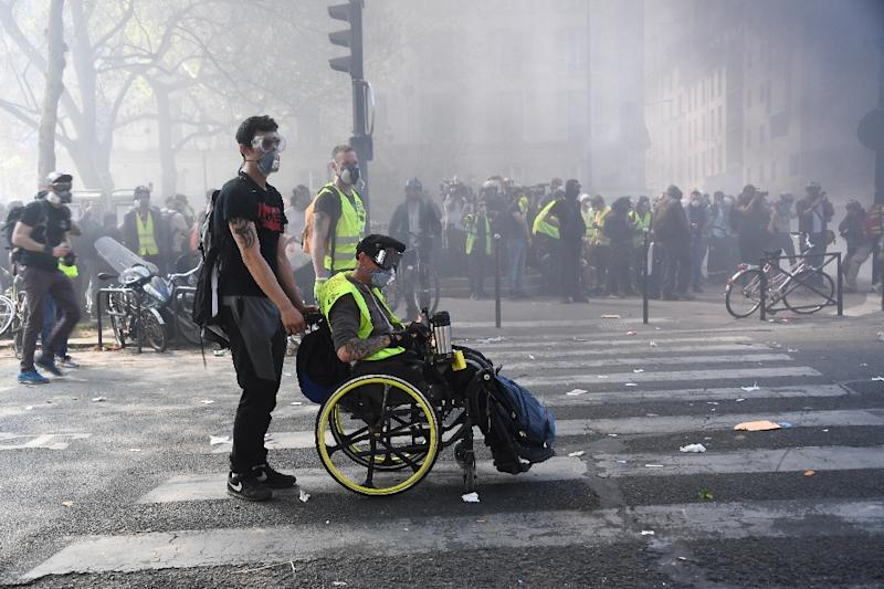 "This is the 23rd week of ""yellow vest"" street protests (AFP Photo/Anne-Christine POUJOULAT)"