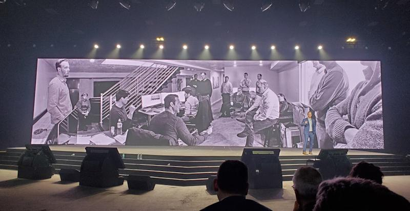 Nikola Motor founder and CEO Trevor Milton shared this photo during Nikola World 2019 in Scottsdale, Arizona, on April 16, 2019, of the company's early employees working in his basement. ( Photo: Brian Straight/FreightWaves )