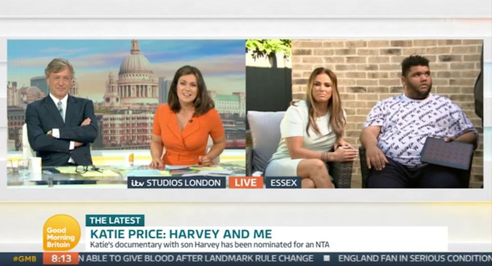 Katie and Harvey Price being interviewed by Richard Madeley and Susanna Reid (Photo: ITV)