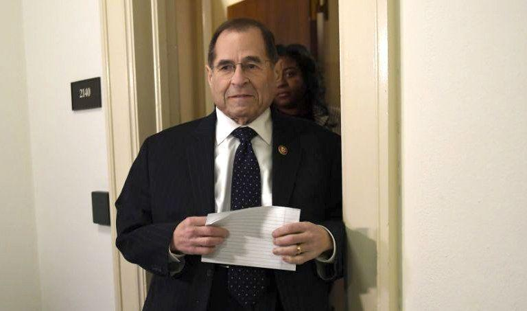 Rep. Jerry Nadler talks with reporters after meeting with former Acting Attorney General Matthew Whitaker on March 13. (Photo: Susan Walsh/AP)
