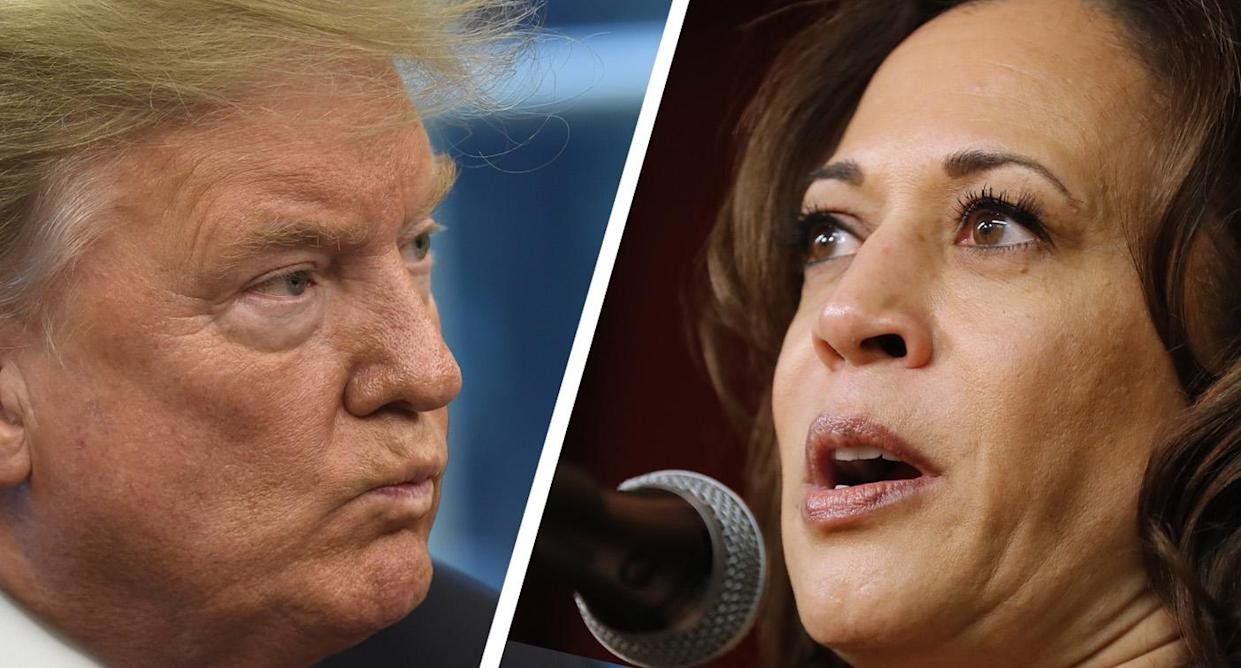 President Trump and Kamala Harris (Photos: Susan Walsh/AP, Charlie Neibergall/AP)