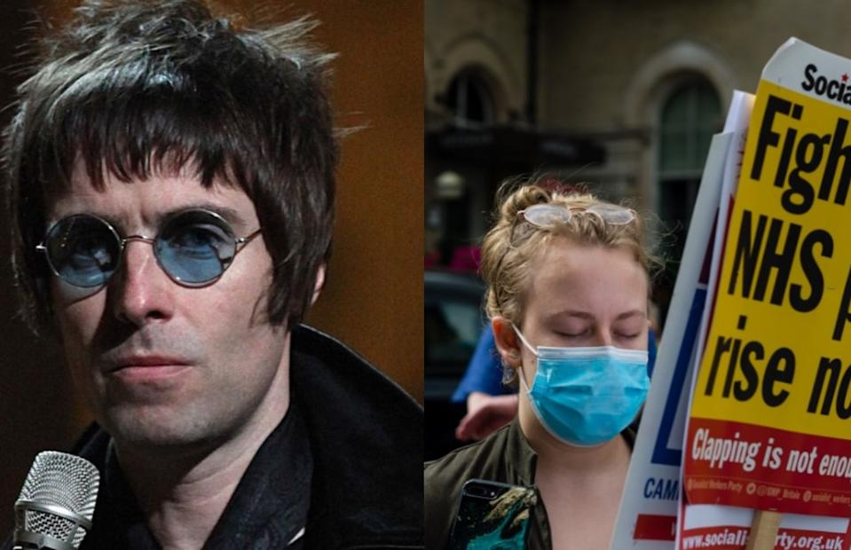 Liam Gallagher has backed nurses over a pay row with the government. (Getty)
