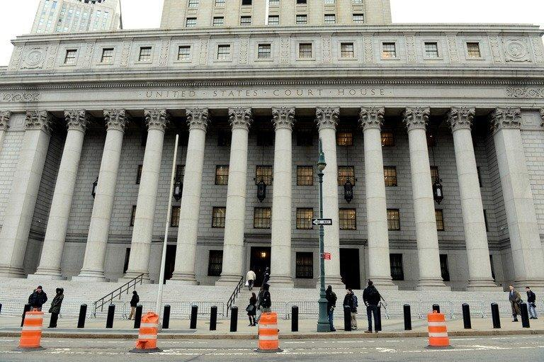 Courthouse in Manhattan where the trial of police officer Gilberto Valle is taking place, February 25, 2013