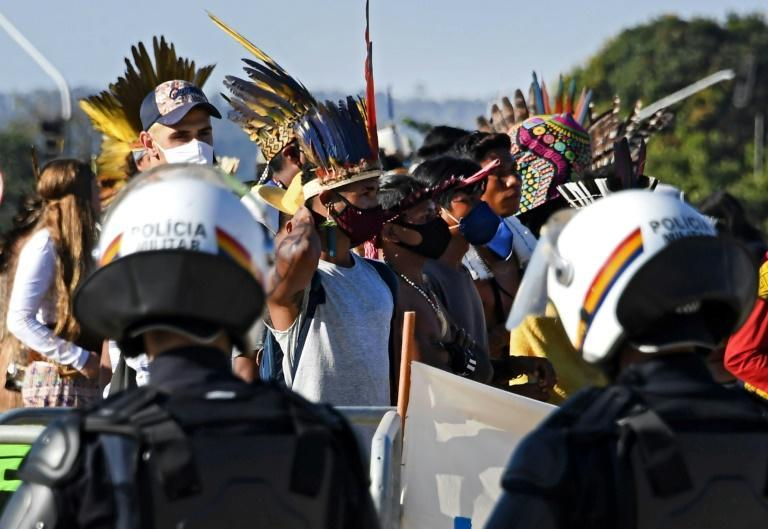 Brazil's indigenous peoples have been protesting the government's land reform proposals