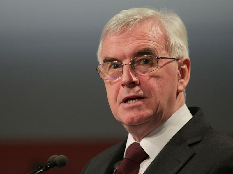 "Mr McDonnell proposed a ""maximum income"", which would see a pay ratio implemented within companies employed by the Government, meaning there would be a maximum amount the CEOs and directors could earn in relation to their employees: Getty"