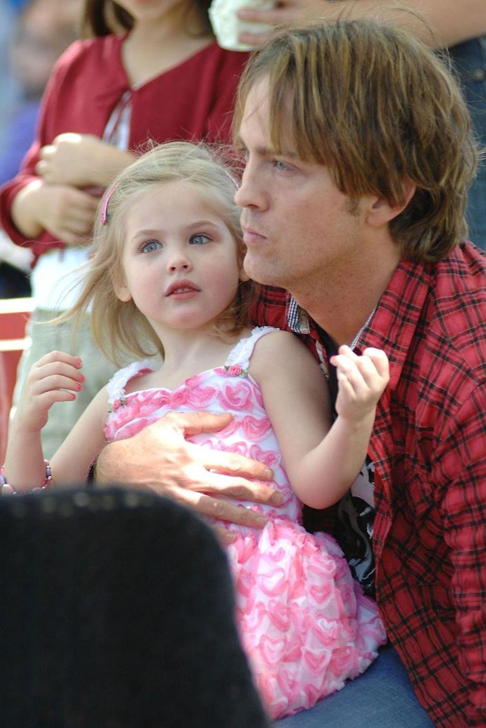 <p>Anna Nicole Smith's daughter was born on September 7, 2006. Here, she's pictured with her father, Larry Birkhead, in September 2010. </p>