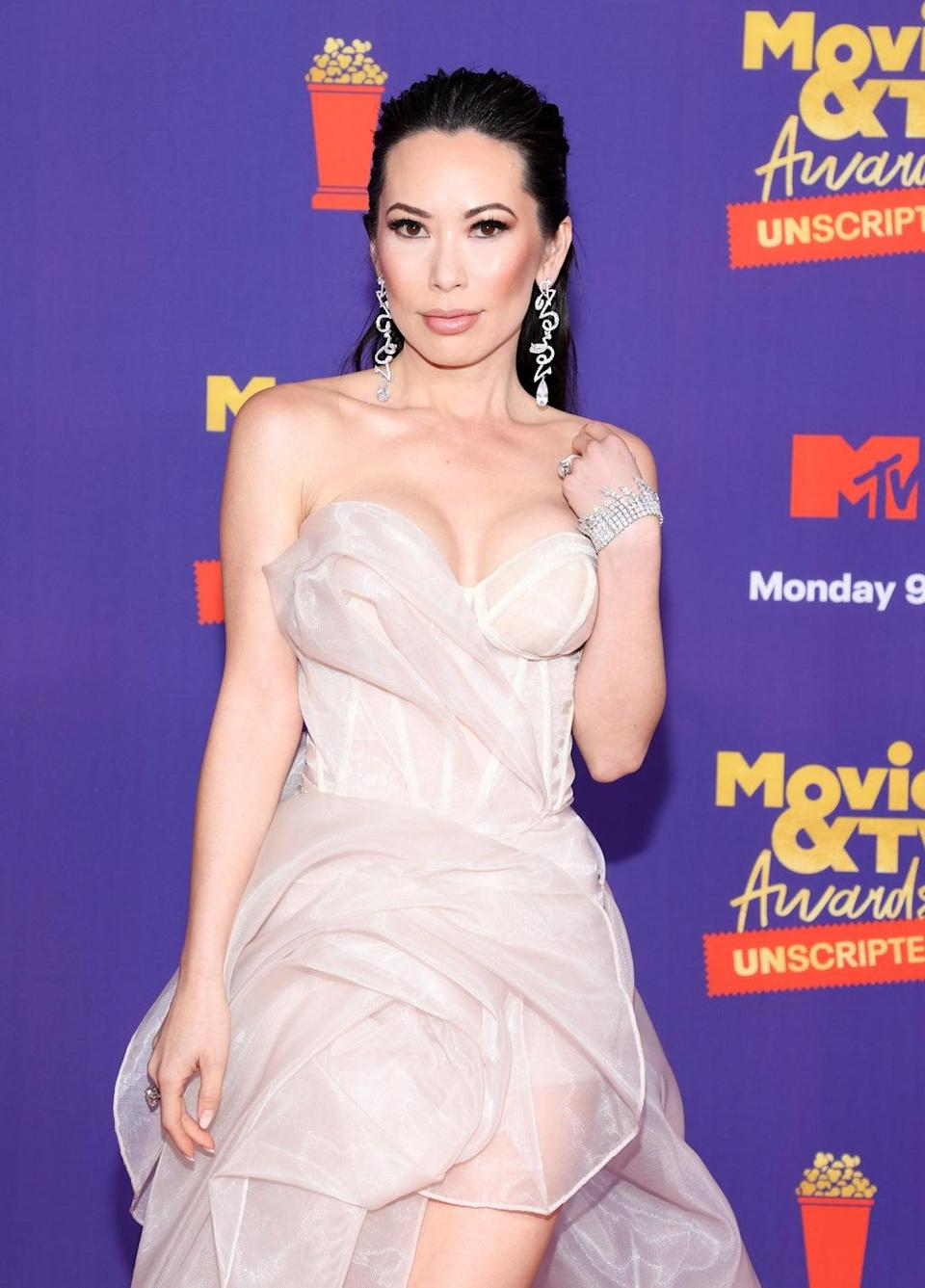 Christine Chiu attends the 2021 MTV Movie & TV Awards on 17 May 2021 in Los Angeles (Amy Sussman/Getty Images)