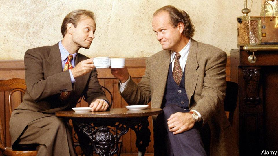 <p> <strong>UK:</strong> Available to purchase </p> <p> <strong>US: </strong>Hulu </p> <p> Any character from Cheers could have made for a good spin-off show, but the one we landed with is Frasier – and what a surprisingly excellent choice. The show, which centres on a downbeat radio psychiatrist, quickly outgrew Cheers, losing almost all similarity. Kelsey Grammer's central performance anchors this beloved sitcom, while David Hyde Pierce as Fraser's brother Niles, Jane Leeves as Daphne, Peri Gilpin as Roz, and John Mahoney as Martin Crane round out the excelent ensemble. <br> </p>