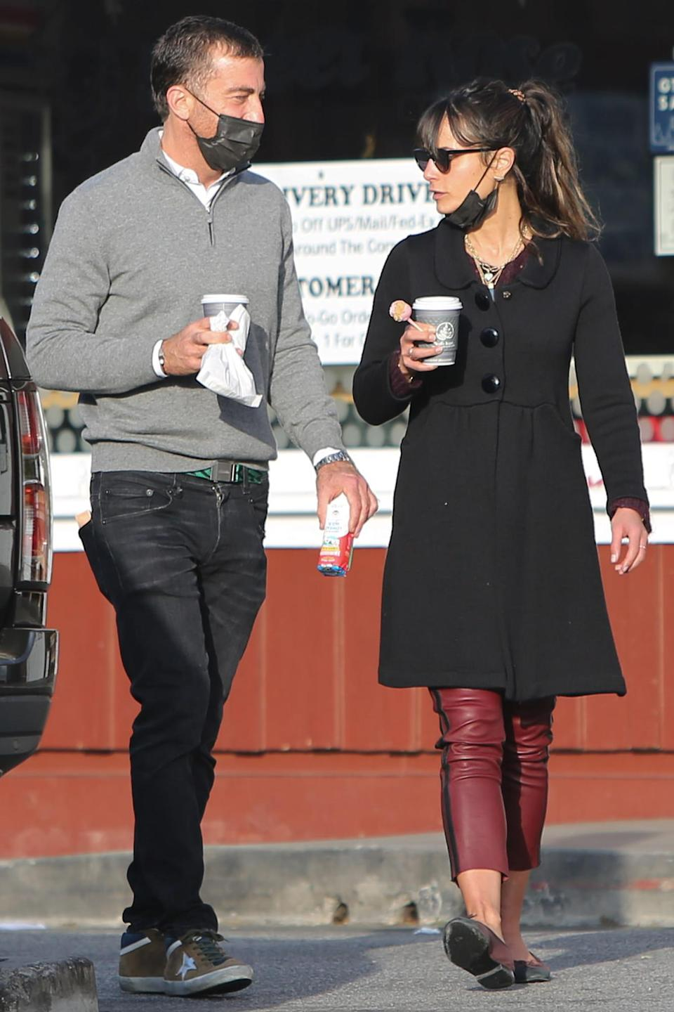 <p>Mason Morfit and Jordana Brewster were spotted grabbing coffees in Los Angeles.</p>