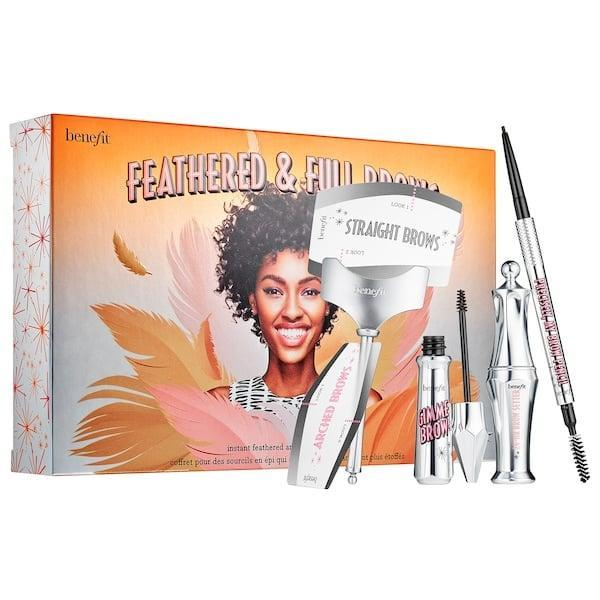<p>Ideal for beginners (or anyone who wants to up their brow game), this <span>Benefit Cosmetics Feathered and Full Brow Set</span> ($34) includes all the tools needed for a textured brow, including shaping stencils.</p>